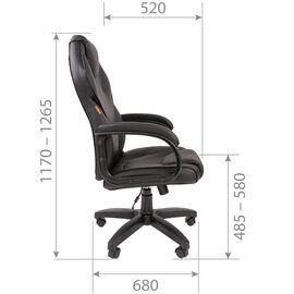 Компьютерное кресло для руководителя Chairman 299 Серый/Чёрный, Цвет товара: Серый, изображение 3