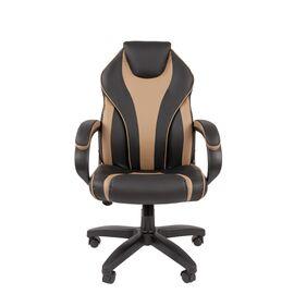 Компьютерное кресло для руководителя Chairman 299 Бежевый/Чёрный, Цвет товара: Бежевый, изображение 2