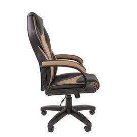 Компьютерное кресло для руководителя Chairman 299 Бежевый/Чёрный, Цвет товара: Бежевый, изображение 3