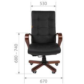 Компьютерное кресло для руководителя Chairman 424 WD Чёрное, изображение 4