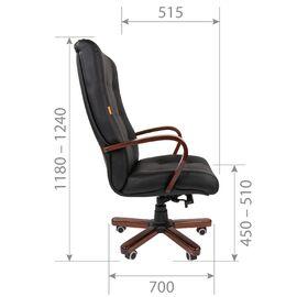 Компьютерное кресло для руководителя Chairman 424 WD Чёрное, изображение 5