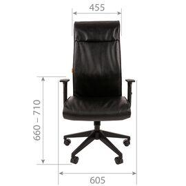 Компьютерное кресло для руководителя Chairman 510 Чёрное, изображение 4