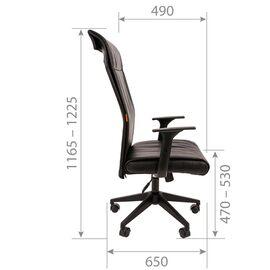 Компьютерное кресло для руководителя Chairman 510 Чёрное, изображение 5
