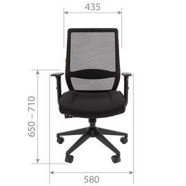 Компьютерное кресло для руководителя Chairman 555 LT Чёрный, изображение 4