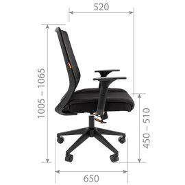 Компьютерное кресло для руководителя Chairman 555 LT Чёрный, изображение 5
