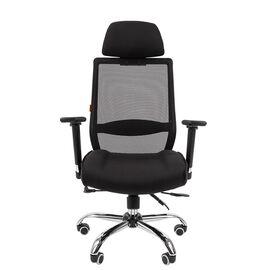 Компьютерное кресло для руководителя Chairman 555 LUX Чёрный, изображение 2