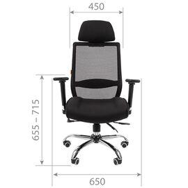 Компьютерное кресло для руководителя Chairman 555 LUX Чёрный, изображение 4