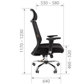 Компьютерное кресло для руководителя Chairman 555 LUX Чёрный, изображение 5