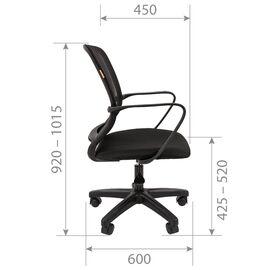 Компьютерное кресло Chairman 698LT Черный, Цвет товара: Чёрный, изображение 5
