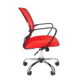 Компьютерное кресло для руководителя Chairman 698 CHROME Красный, Цвет товара: Красный, изображение 5