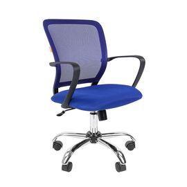 Компьютерное кресло для руководителя Chairman 698 CHROME Синий, Цвет товара: Синий