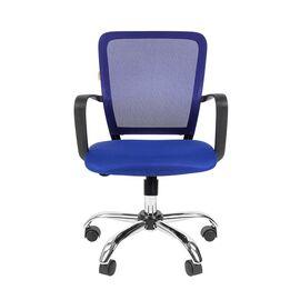 Компьютерное кресло для руководителя Chairman 698 CHROME Синий, Цвет товара: Синий, изображение 2