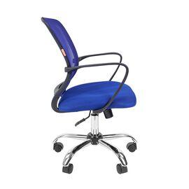 Компьютерное кресло для руководителя Chairman 698 CHROME Синий, Цвет товара: Синий, изображение 3