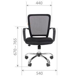 Компьютерное кресло для руководителя Chairman 698 CHROME Черный, Цвет товара: Черный, изображение 4