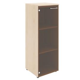 Шкаф для документов узкий средний ( стеклянная дверь ) Wave Skyland WMC 42.2 Дуб Сонома 432х432х1184, Цвет товара: Бук Тиара