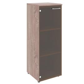 Шкаф для документов узкий средний ( стеклянная дверь ) Wave Skyland WMC 42.2 Бук Тиара 432х432х1184, Цвет товара: Дуб Cонома