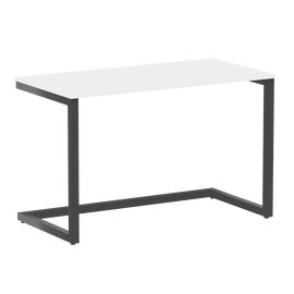 Стол приставной рабочий для ноутбука Home Office Riva VR.SP-2-118 Вяз Благородный Темный / Антрацит мет. 1180х600х750, Цвет товара: Белый Бриллиант / Антрацит мет.