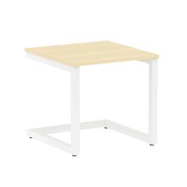 Стол журнальный Home Office Riva VR.SP-2-58G Клен / Белый мет. 580*600*550, Цвет товара: Клен / Белый мет.