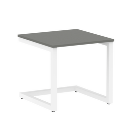 Стол журнальный Home Office Riva VR.SP-2-58G Металлик / Белый мет. 580*600*550, Цвет товара: Металлик / Белый мет.