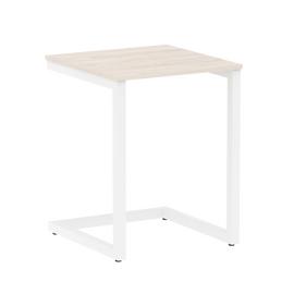 Стол приставной для ноутбука Home Office Riva VR.SP-2-58 Денвер Светлый / Белый мет. 580*600*750, Цвет товара: Денвер светлый / Белый мет.