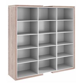 Шкаф для документов высокий широкий  ASTI AS - 2.2 1800х500х1850 Дуб нельсон/Серый, Цвет товара: Дуб нельсон, изображение 2