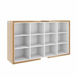 Шкаф закрытый средний широкий ASTI AS - 2.5 2080х500х1190 Дуб сантана/Белый, Цвет товара: Дуб Сантана, изображение 2