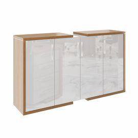 Шкаф закрытый средний широкий ASTI AS - 2.5 2080х500х1190 Дуб сантана/Белый, Цвет товара: Дуб Сантана