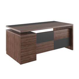 Стол для руководителя с тумбой правый Fort FOT30410201 1800x900x790 Олива, Цвет товара: Олива