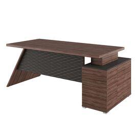 Стол для руководителя с тумбой левый IRVIN Pointex IRV30310101 Олива 2020x900x780, Цвет товара: Олива