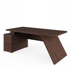 Стол для руководителя с тумбой левый IRVIN Pointex IRV30310101 Олива 2020x900x780, Цвет товара: Олива, изображение 2