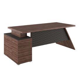 Стол для руководителя с тумбой правый IRVIN Pointex IRV30310201 Олива 2020x900x780, Цвет товара: Олива