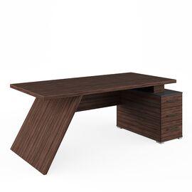 Стол для руководителя с тумбой правый IRVIN Pointex IRV30310201 Олива 2020x900x780, Цвет товара: Олива, изображение 2