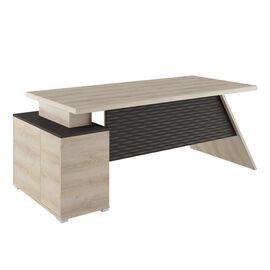 Стол для руководителя с тумбой правый IRVIN Pointex IRV30310201 Светлый дуб 2020x900x780, Цвет товара: Светлый дуб
