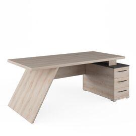 Стол для руководителя с тумбой правый IRVIN Pointex IRV30310201 Светлый дуб 2020x900x780, Цвет товара: Светлый дуб, изображение 2