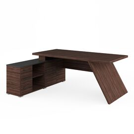 Стол для руководителя с тумбой левый IRVIN Pointex IRV30310301 Олива 2020x1550x780, Цвет товара: Олива, изображение 2