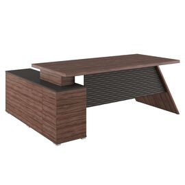 Стол для руководителя с тумбой правый IRVIN Pointex IRV30310401 Олива 2020x1550x780, Цвет товара: Олива