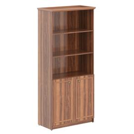 Шкаф для документов высокий ( малые двери ЛДСП ) Raut Skyland RHC 89.5 Орех Даллас 922х466х2023, Цвет товара: Орех Даллас