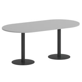 Стол овальный Home Office Riva  VR.SP-5-180.1 Серый / Антрацит мет. 1800*900*750, Цвет товара: Серый / Антрацит мет.