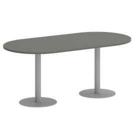 Стол овальный Home Office Riva  VR.SP-5-180.1 Металлик / Серый мет.1800*900*750, Цвет товара: Металлик / Серый мет.