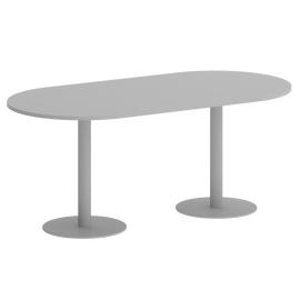 Стол овальный Home Office Riva  VR.SP-5-180.1 Серый / Серый мет.1800*900*750, Цвет товара: Серый / Серый мет.