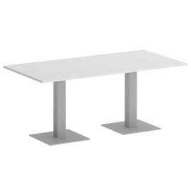 Стол прямоугольный Home Office Riva VR.SP-5-180.2 Белый бриллиант / Серый мет. 1800х900х750