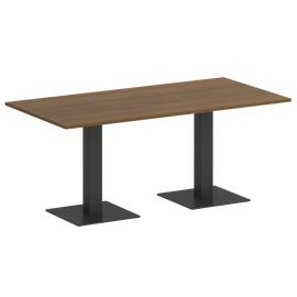 Стол прямоугольный  Home Office Riva VR.SP-5-180.2 Орех Гварнери / Антрацит мет. 1800х900х750