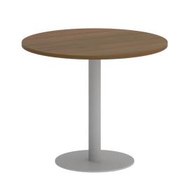 Стол круглый Home Office Riva VR.SP-5-90.1 Орех Гварнери / Серый мет. 900*900*750, Цвет товара: Орех Гварнери / Серый мет.