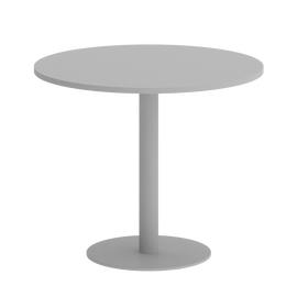 Стол круглый Home Office Riva VR.SP-5-90.1 Серый / Серый мет. 900*900*750, Цвет товара: Серый / Серый мет.