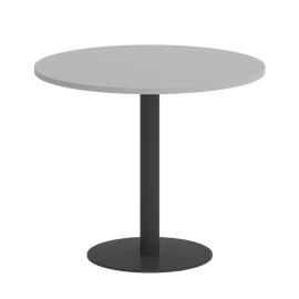 Стол круглый Home Office Riva VR.SP-5-90.1 Серый / Антрацит мет. 900*900*750, Цвет товара: Серый / Антрацит мет.