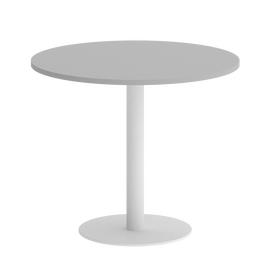 Стол круглый Home Office Riva VR.SP-5-90.1 Серый / Белый мет. 900*900*750, Цвет товара: Серый / Белый мет.