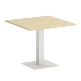 Стол квадратный Home Office Riva VR.SP-5-90.2 Клен / Белый мет. 900*900*750
