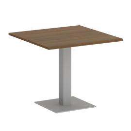 Стол квадратный Home Office Riva VR.SP-5-90.2 Орех Гварнери / Серый мет. 900*900*750, Цвет товара: Орех Гварнери / Серый мет.
