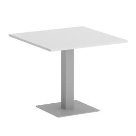 Стол квадратный Home Office Riva VR.SP-5-90.2 Белый бриллиант / Серый мет.  900*900*750, Цвет товара: Белый Бриллиант / Серый мет.