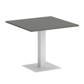 Стол квадратный Home Office Riva VR.SP-5-90.2 Металлик  / Белый мет. 900*900*750, Цвет товара: Металлик / Белый мет.